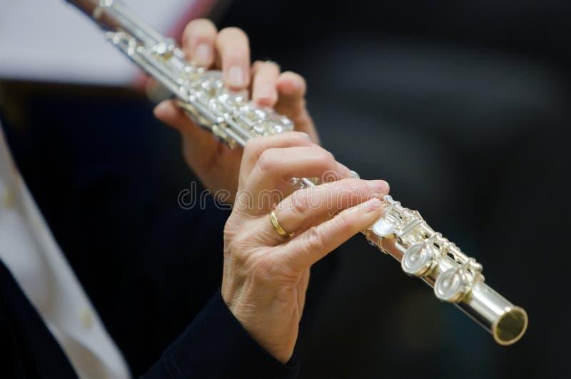 Flutists-Frau lizenzfreies stockfoto