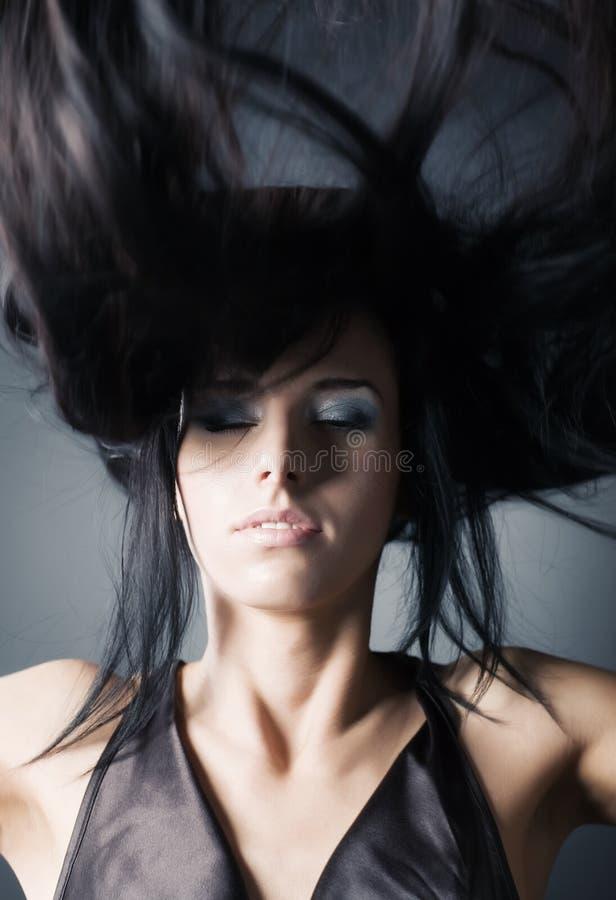 fluttering hair woman στοκ εικόνες