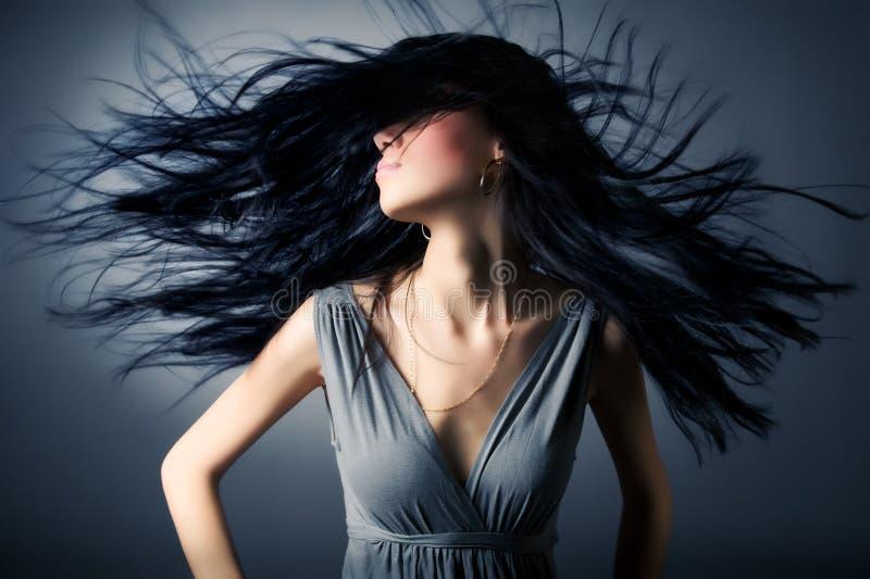 fluttering hair woman στοκ φωτογραφία με δικαίωμα ελεύθερης χρήσης