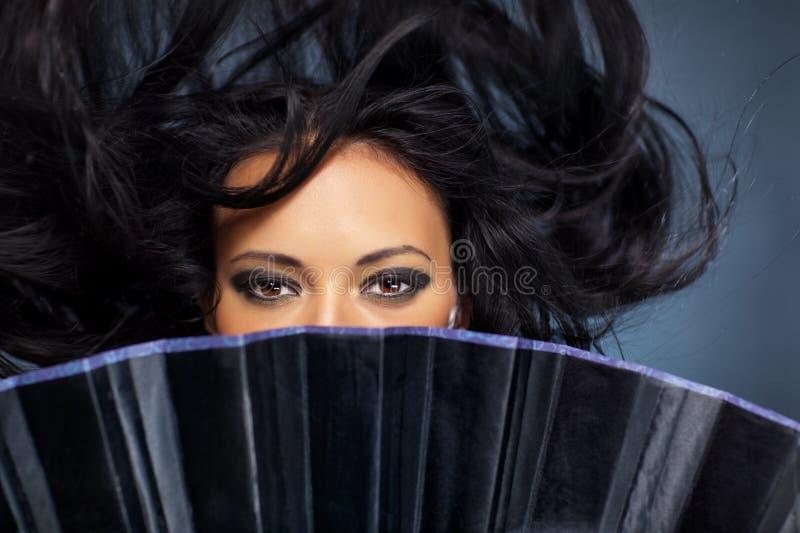fluttering hair woman young στοκ εικόνες
