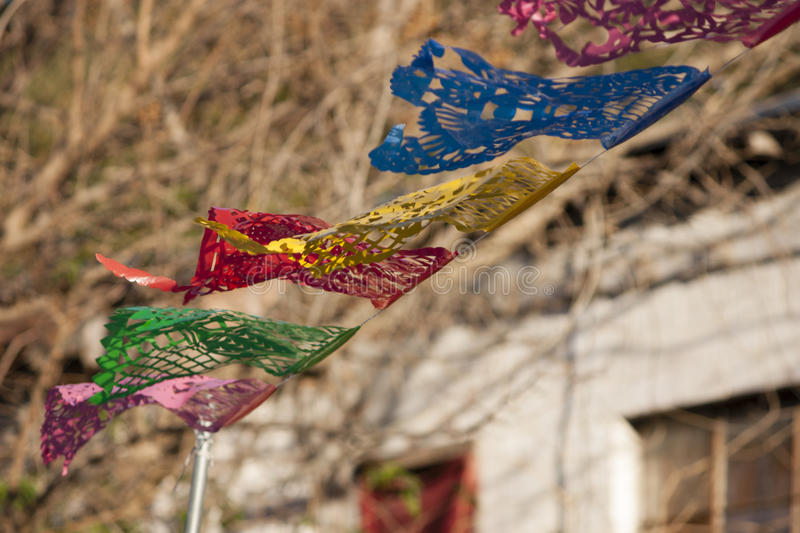 Fluttering Mexican Banner stock images