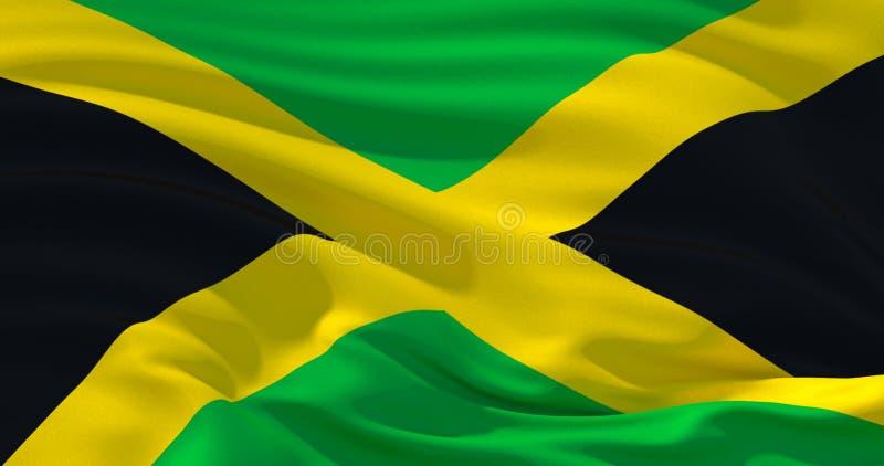 Jamaica flag patriotic background, 3d illustration royalty free illustration