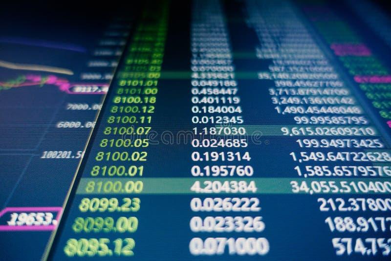 Flutuação do mercado de valores de ação fotos de stock