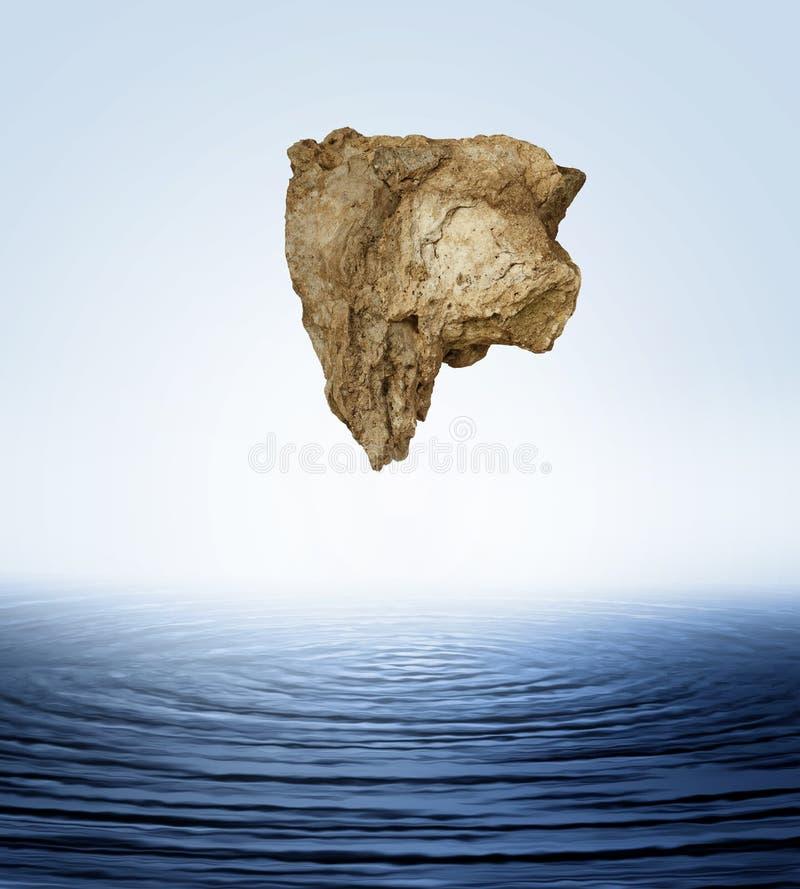 Flutuação grande da rocha fotografia de stock
