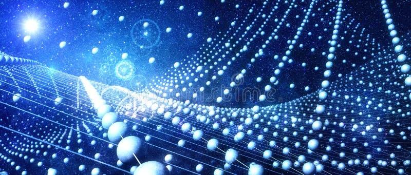 Flutuações do quantum ilustração stock