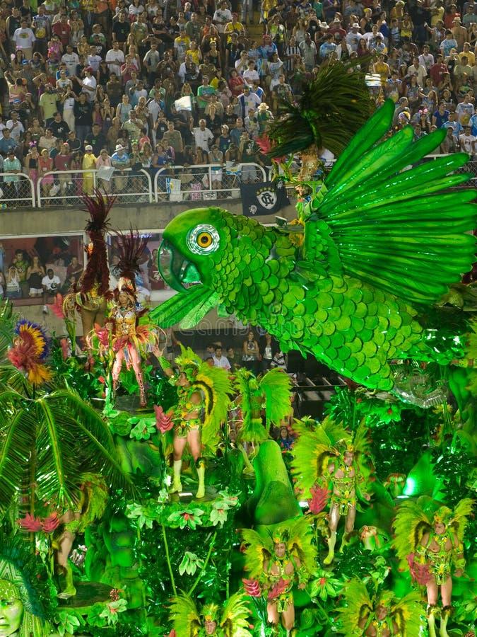 Flutuador de Beija Flor, carnaval 2008 de Rio. foto de stock