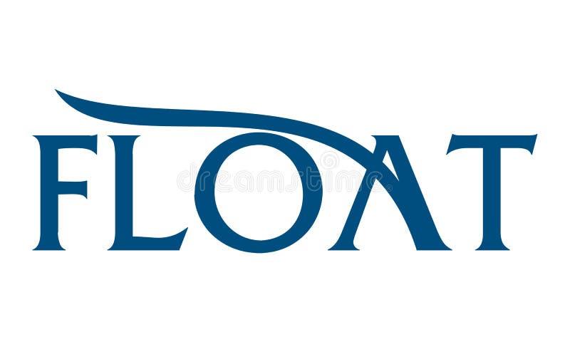 Flutuador Logo Emblem da letra ilustração stock