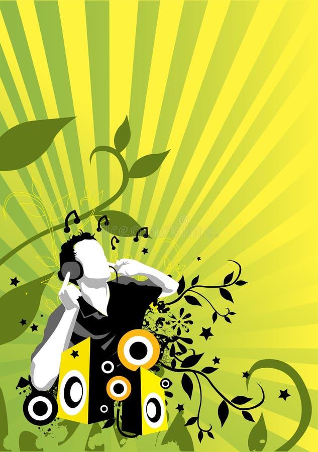 Flux 2 de musique illustration libre de droits