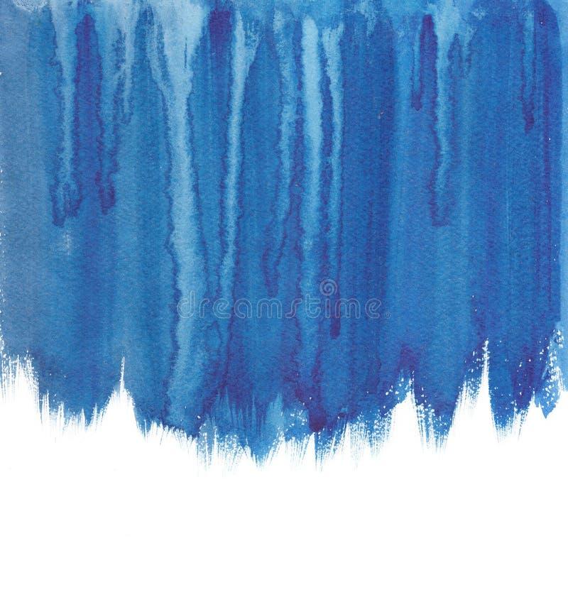 Flux d'aquarelle bleu marine pour la page de conception image libre de droits