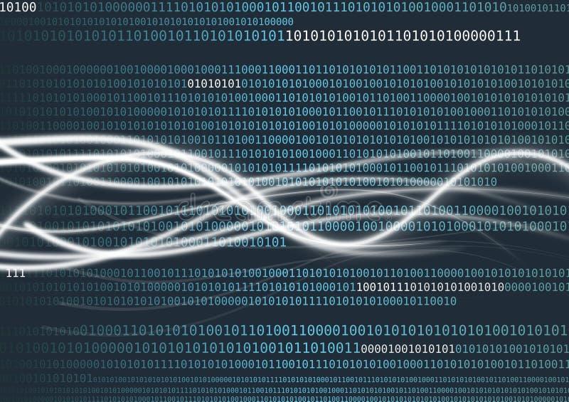 Flux de données OU analyse de données illustration stock