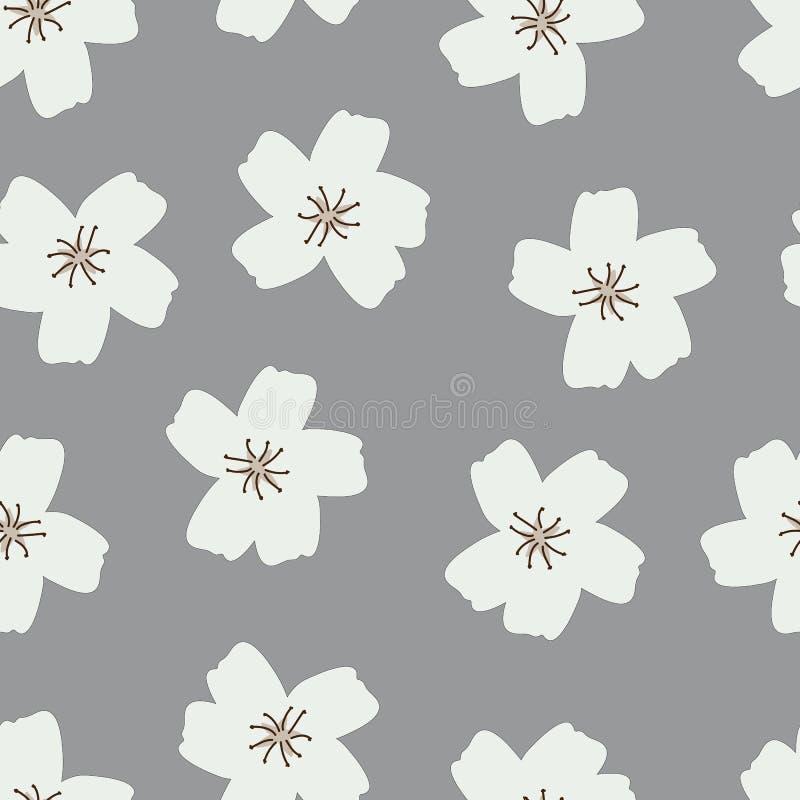 fond abstrait gris - fleur simple  illustration stock