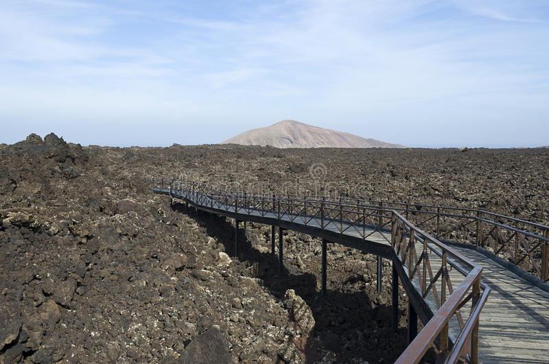 Flux de lave de Timanfaya images stock