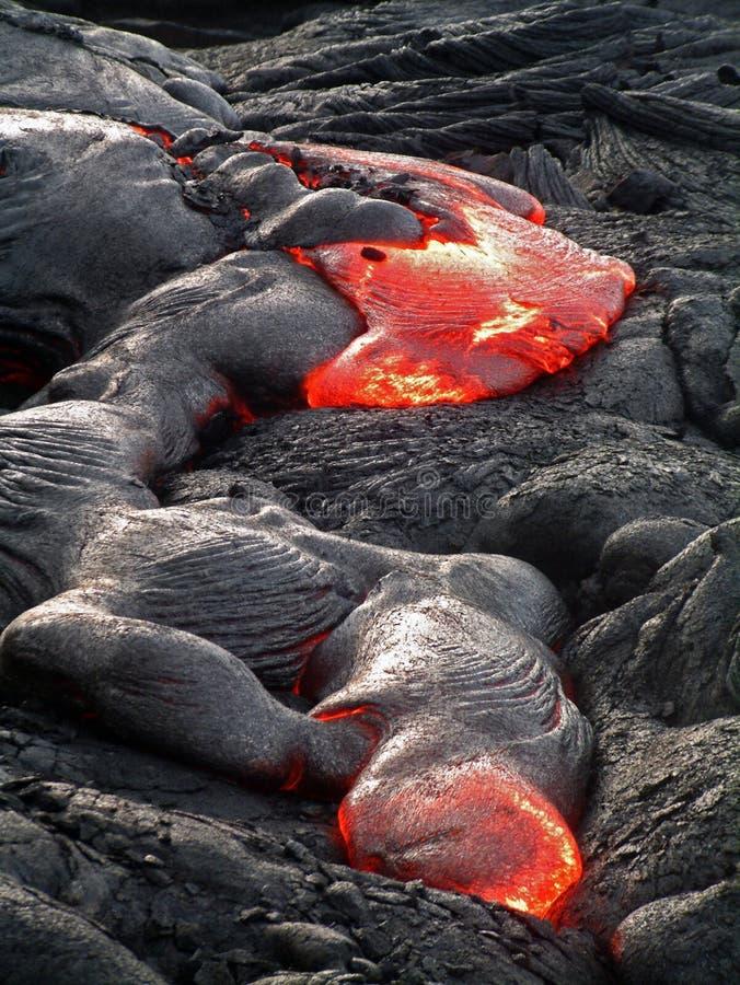 Flux de lave hawaïen images stock