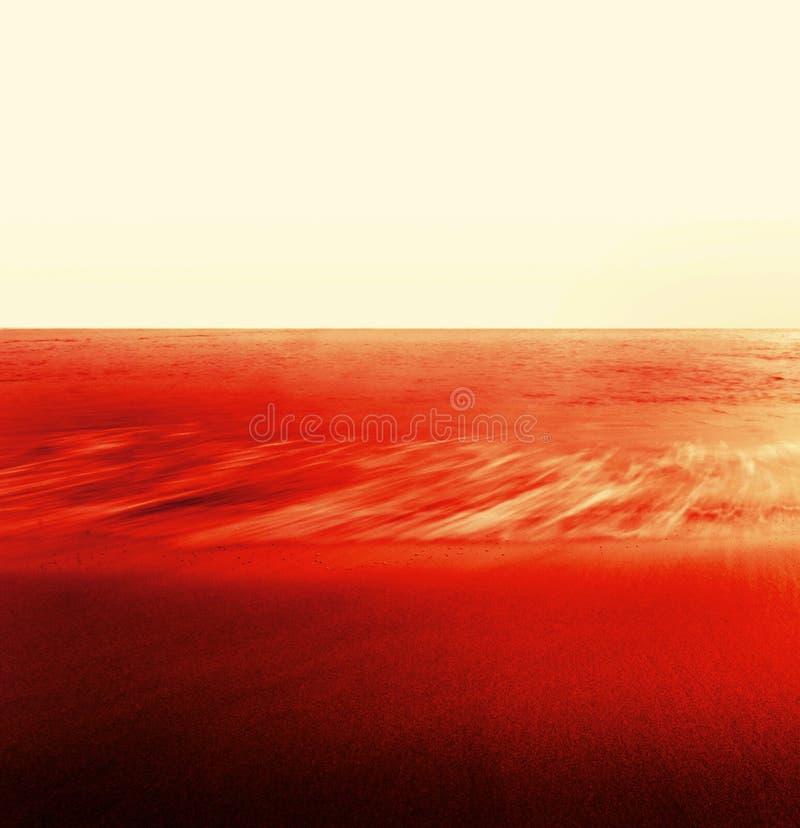 Fluxo, água, areia, vermelha fotografia de stock