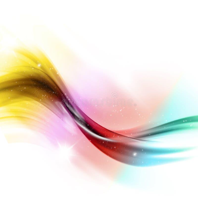 Fluxo abstrato do arco-íris ilustração royalty free