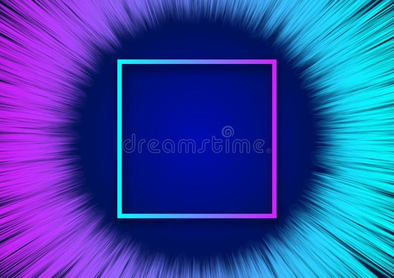 Fluxo colorido moderno para o fundo abstrato ilustração do vetor