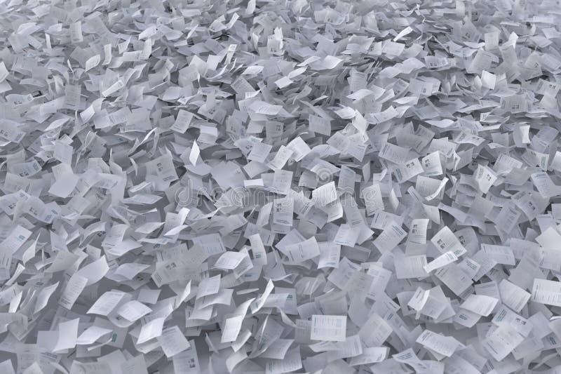 Fluxo das folhas de papel ilustração do vetor