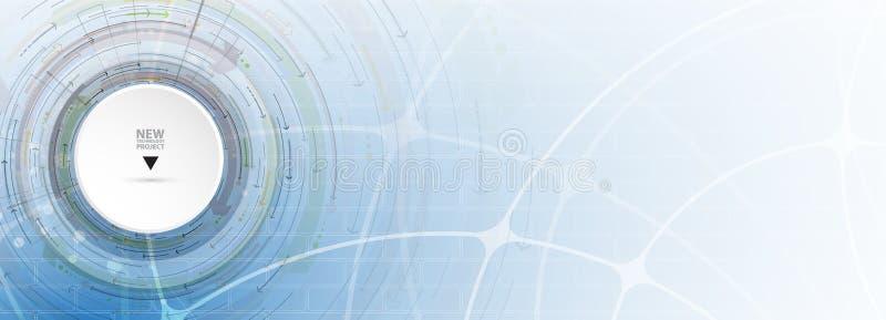 Fluxo das setas Imaginação do processo do negócio ou da tecnologia V ilustração royalty free