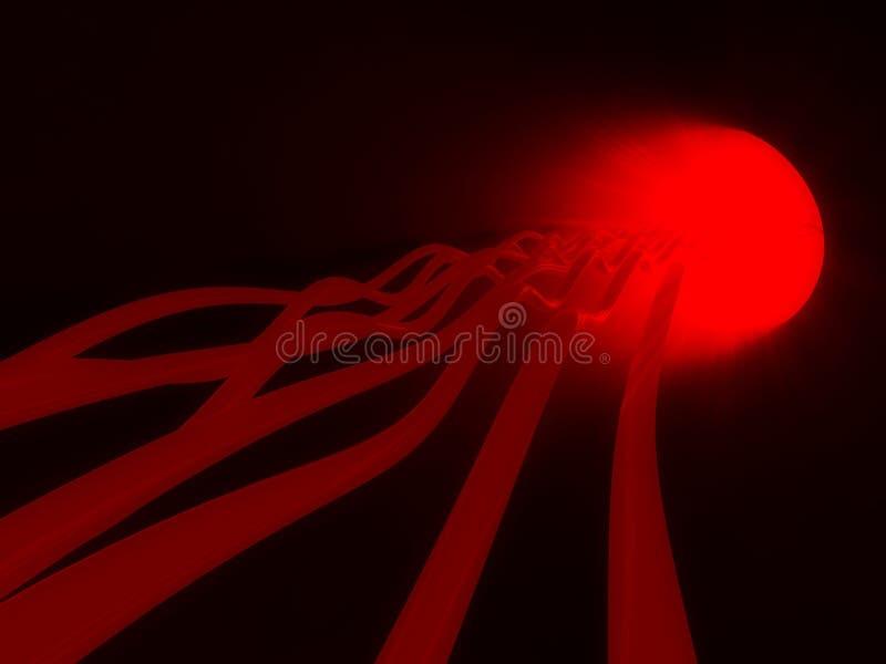 fluxo de energia 3d, córrego da informação ilustração do vetor