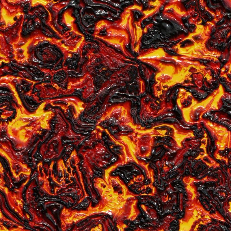 Fluxo de lava quente ilustração stock