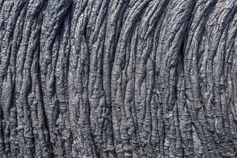 Fluxo de lava Ropey em Havaí fotos de stock royalty free