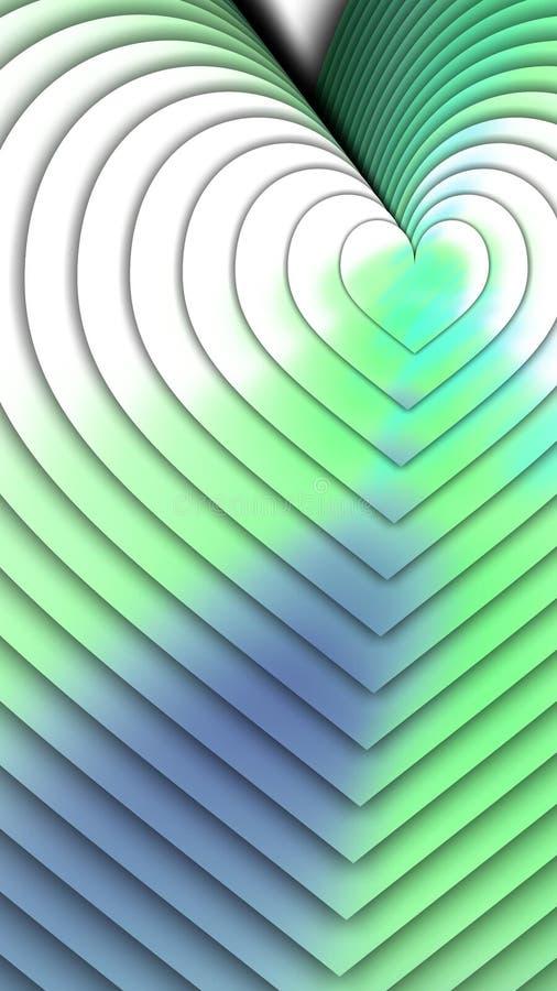 Fluxo de ondas coloridas em azul ilustração stock