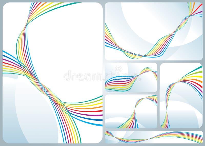 Fluxo do arco-íris ilustração stock