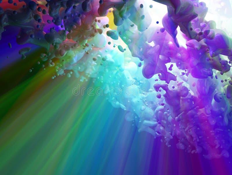 Fluxo do espectro, acima ilustração stock