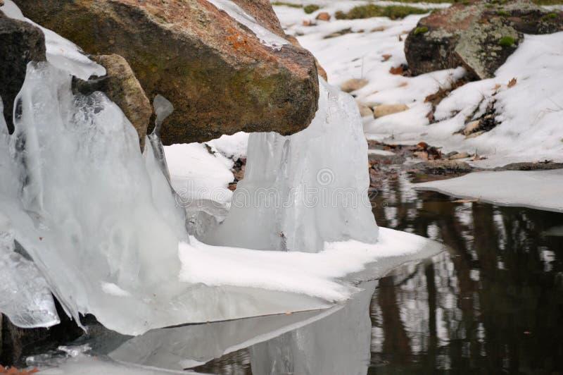 Fluxo do gelo fotografia de stock royalty free