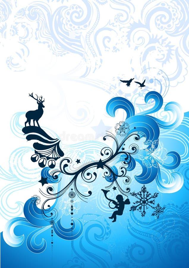 Fluxo do inverno do Natal ilustração do vetor