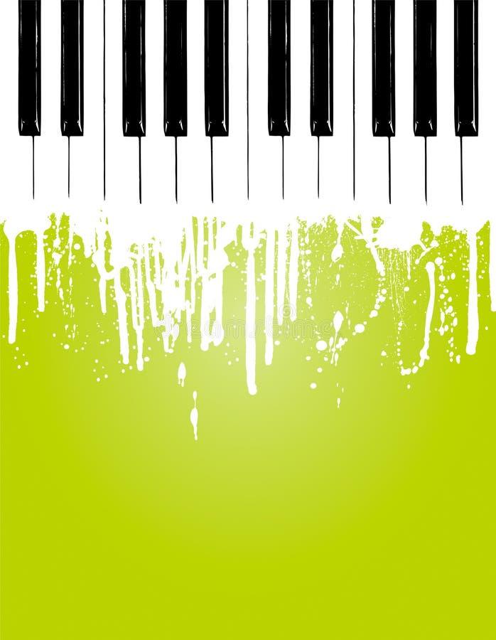Fluxo do piano ilustração stock