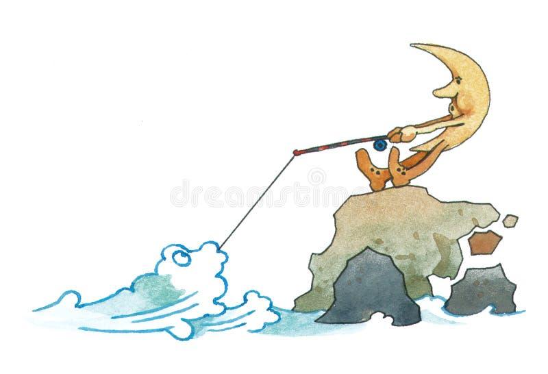 Fluxo e reflux ilustração royalty free