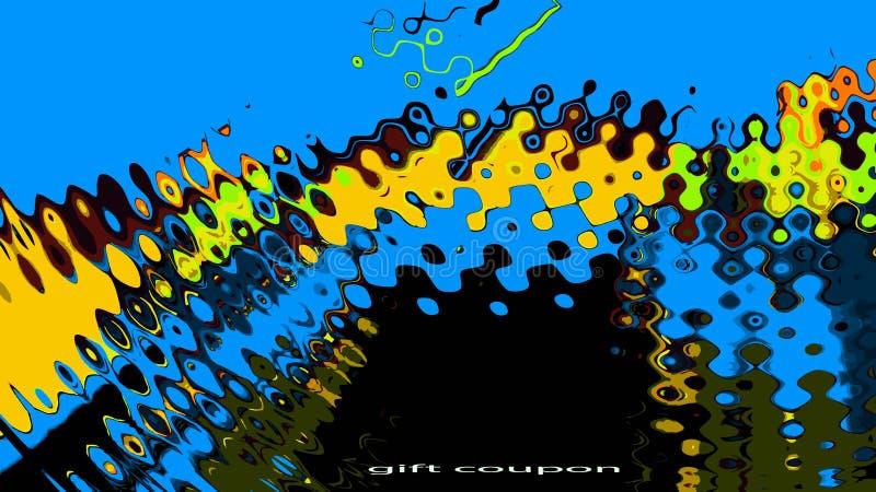 Fluxo energético das ondas de cor ilustração do vetor