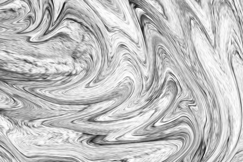 Fluxo escuro de Digitas Grey Background With Spread Liquify Teste padrão de liquefação da cor preto e branco ilustração stock