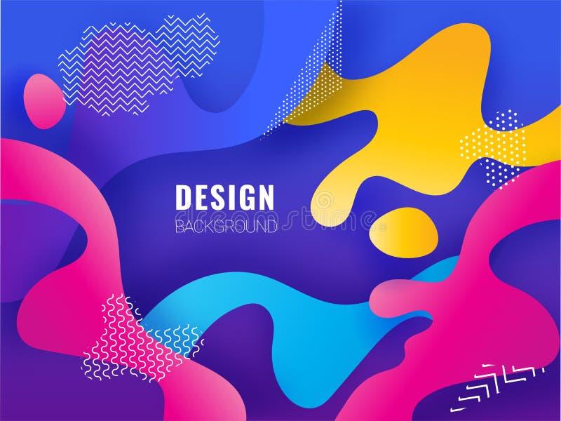 Fluxo líquido colorido abstrato ou arte líquida ilustração do vetor