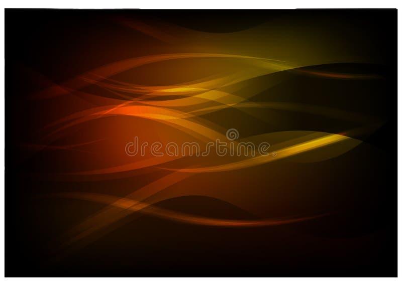 Fluxo luminoso brilhante ilustração do vetor