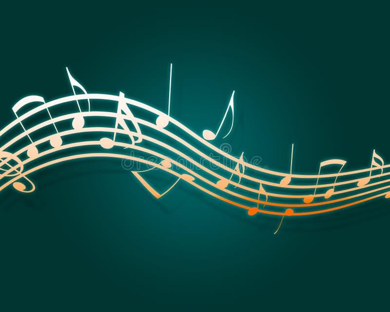 Fluxo musical ilustração do vetor