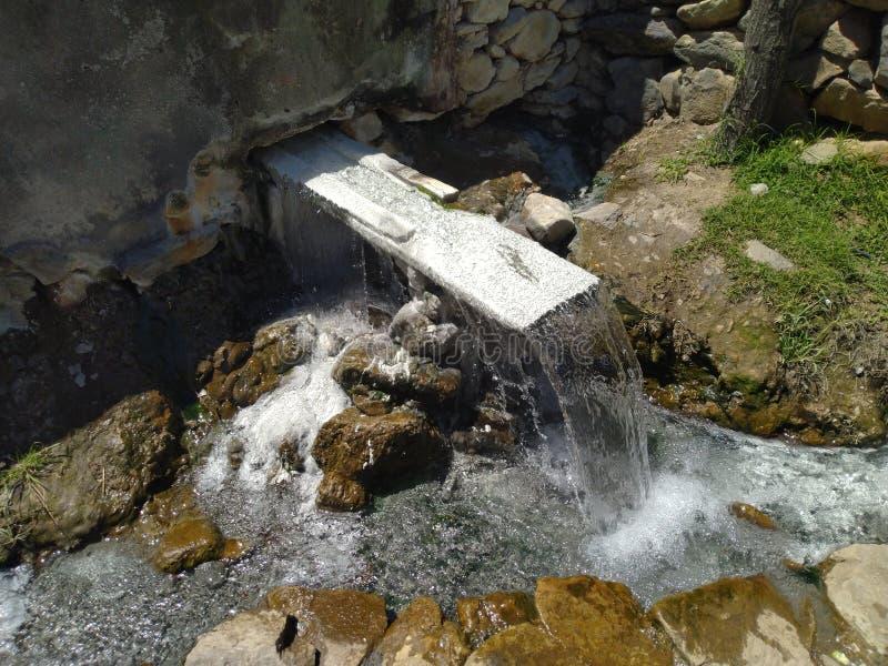 Fluxo sagrado histórico da água quente imagens de stock
