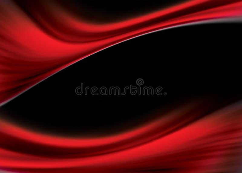 Fluxo vermelho ilustração stock