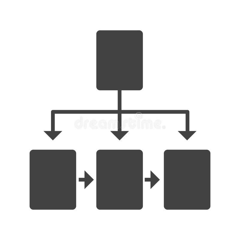 fluxograma ilustração stock