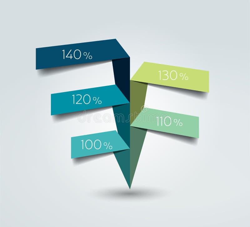 Fluxograma, bandeira da opção, molde, infographic ilustração stock