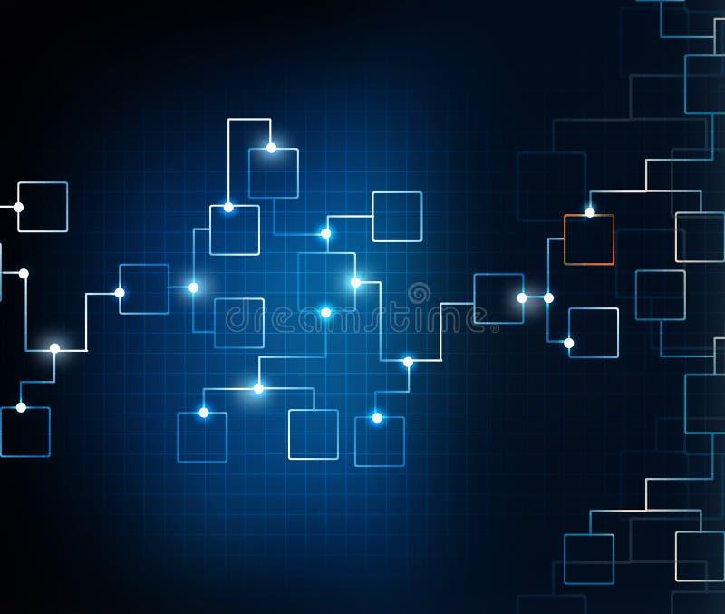 Fluxograma da rede do negócio ilustração stock