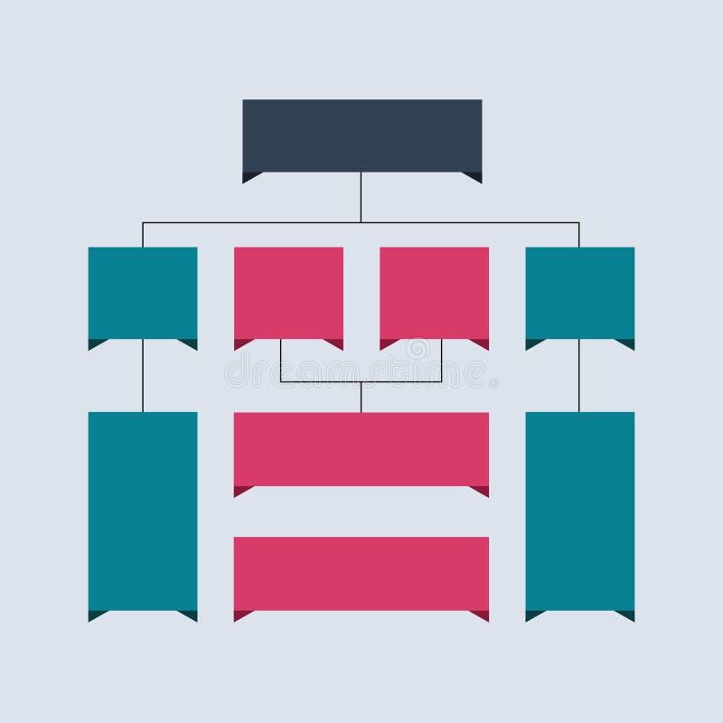 Fluxograma de Infographics Esquemas coloridos, diagramas, designs web Conceito da estrutura do negócio ilustração do projeto do v ilustração stock
