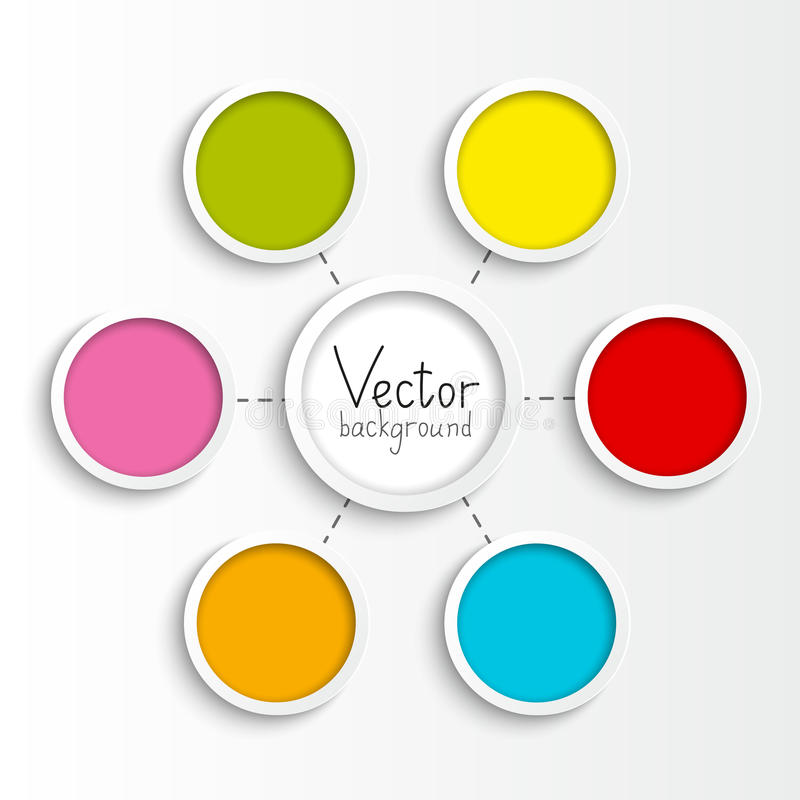 Fluxograma de papel ilustração stock