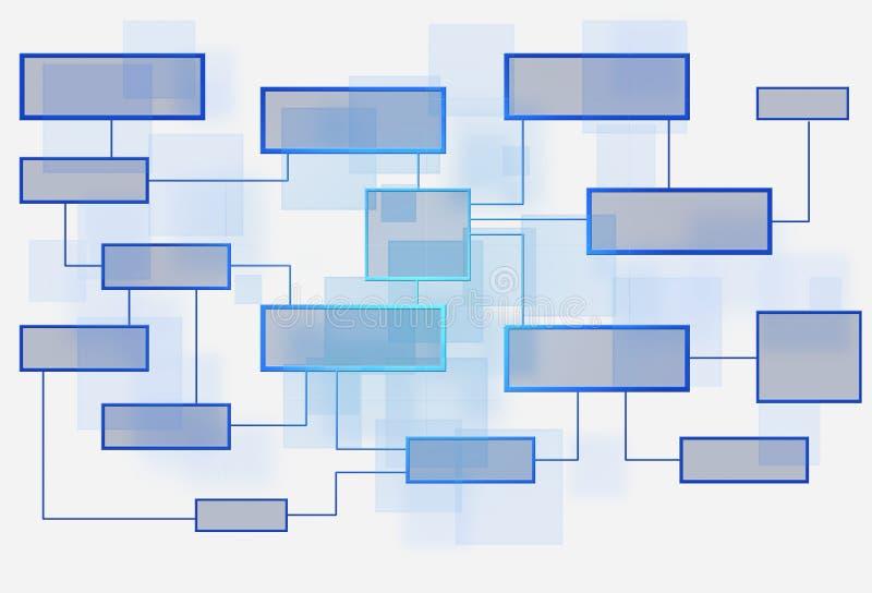 Fluxograma do negócio no fundo branco ilustração royalty free