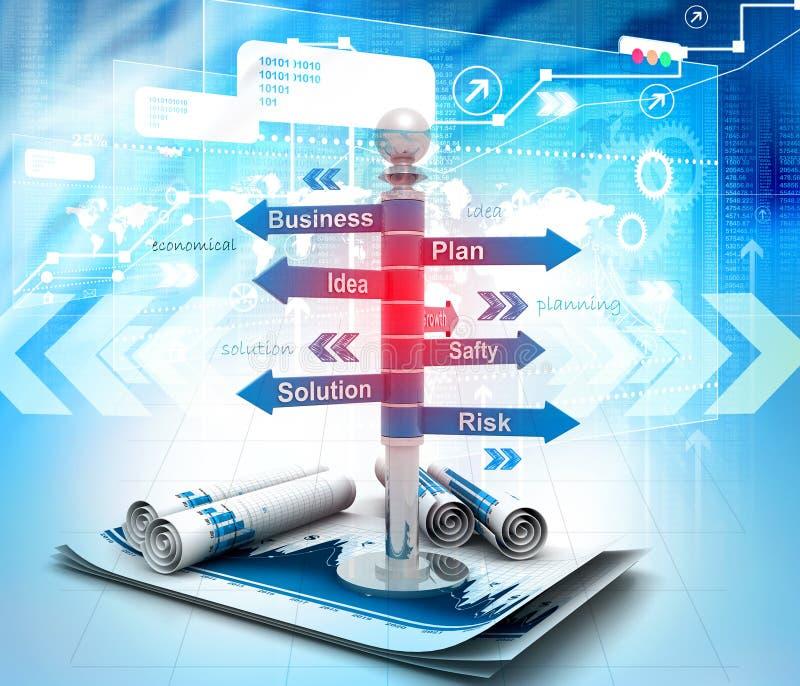 Fluxograma do planeamento empresarial ilustração stock