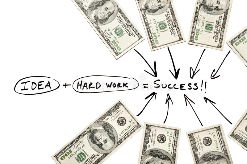 Fluxograma e dinheiro foto de stock royalty free