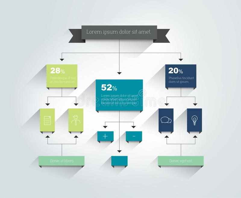 fluxograma Esquema, diagrama, carta r ilustração stock