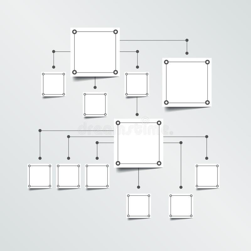 Fluxograma Infographic ilustração do vetor