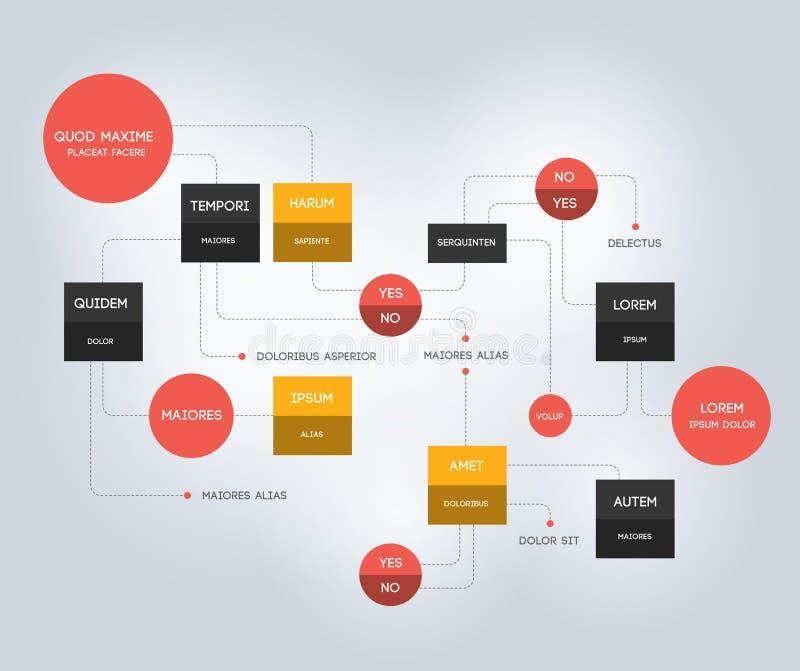 fluxograma Molde, esquema, diagrama, infographic ilustração royalty free